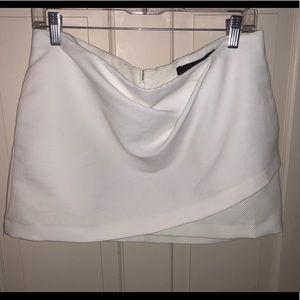 Zara white mini skirt